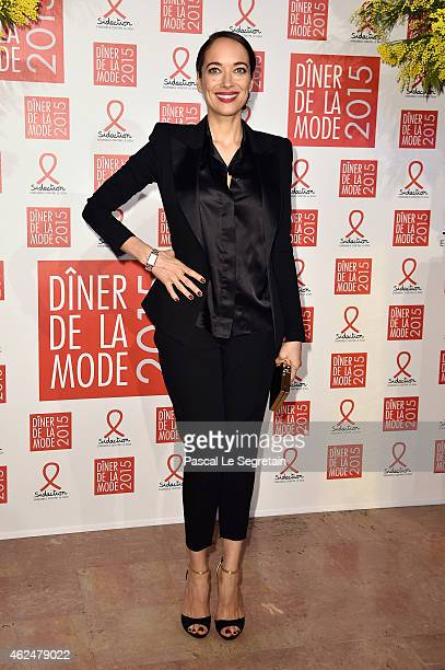 Carmen Chaplin attends the Sidaction Gala Dinner 2015 at Pavillon d'Armenonville on January 29 2015 in Paris France