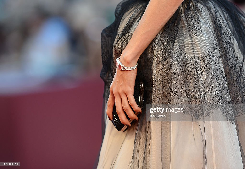 Carmen Chaplin (detail) wears a Jaeger lecoultre Reverso Cordonnet Duetto watch at the 'Under The Skin' Premiere during the 70th Venice Film Festival at the Palazzo del Cinema on September 3, 2013 in Venice, Italy.
