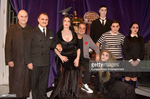 Carmen Conesa and Addams Family attend 'La Familia Addams' Madrid premiere on October 10 2017 in Madrid Spain