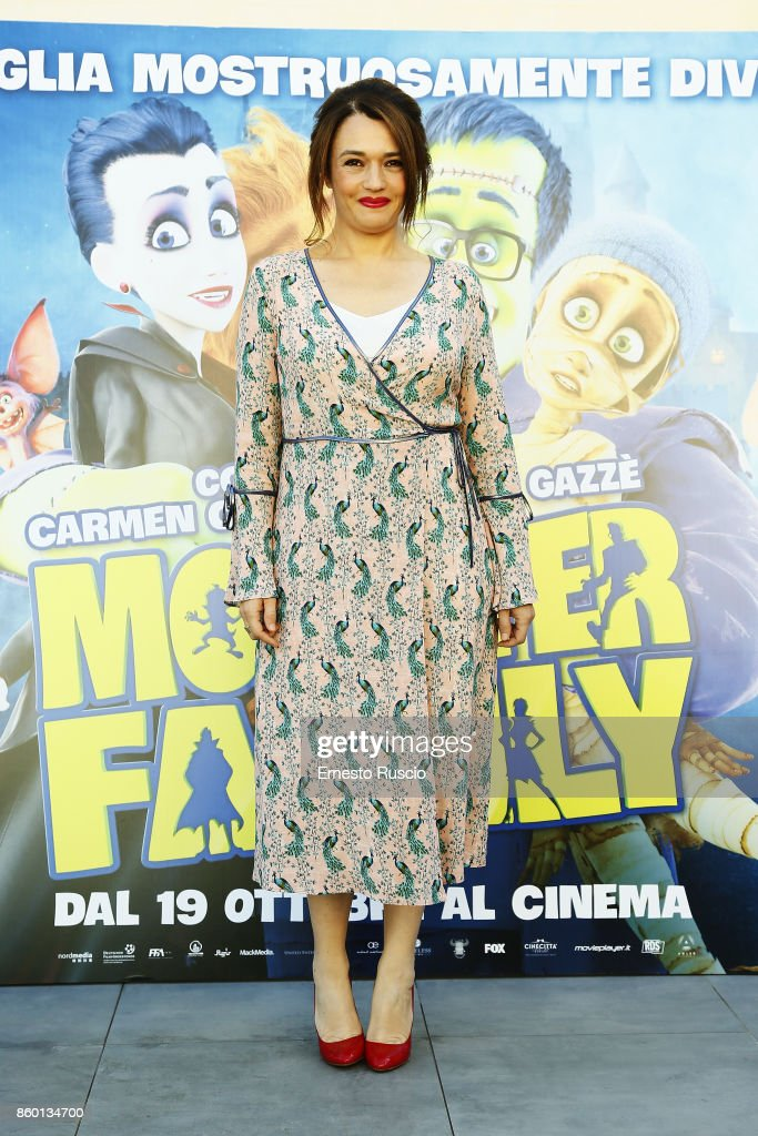 Carmen Consoli attends Monster Family photocall at Aleph Hotel on October 11, 2017 in Rome, Italy.