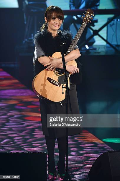 Carmen Consoli performs at 'Che Tempo Che Fa' TV Show on February 8 2015 in Milan Italy