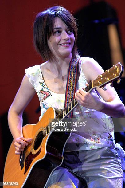 Carmen Consoli performs at the Cornetto free music festival on May 30 2004 in Milan Italy