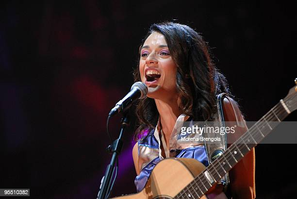 Carmen Consoli performs at the MTV day on September 15 2007 in Milan Italy