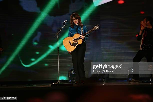 Carmen Consoli performs during the 'Viva il 25 aprile' at Piazza del Quirinale on April 25 2015 in Rome Italy