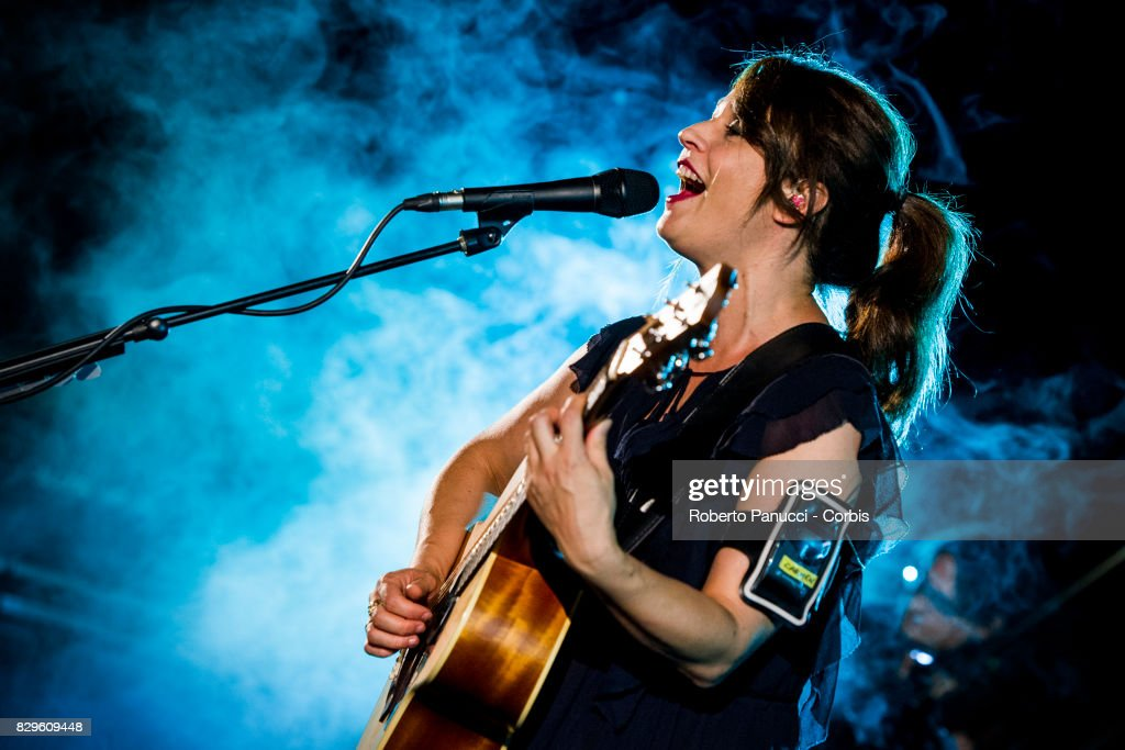 Carmen Consoli performs on August 9, 2017 in Tindari, Italy.