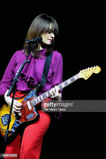 Carmen Consoli performs on stage on April 13 2015 in Milan Italy
