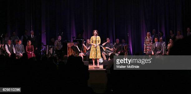 Carmen Cusack and cast on stage during 'Bright Star' In Concert at Town Hall on December 12 2016 in New York City