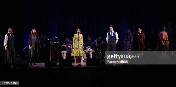 Carmen Cusack and Paul Alexander Nolan and cast on stage during 'Bright Star' In Concert at Town Hall on December 12 2016 in New York City