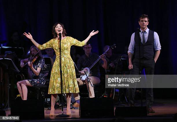 Carmen Cusack and Paul Alexander Nolan on stage during 'Bright Star' In Concert at Town Hall on December 12 2016 in New York City