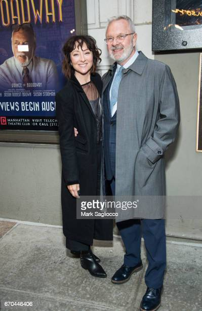 Carmen Cusack and Walter Bobbie attend the 'The Little Foxes' opening night at Samuel J Friedman Theatre on April 19 2017 in New York City