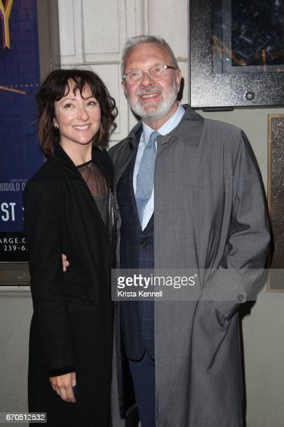 Carmen Cusack and Walter Bobbie attends 'The Little Foxes' opening night at Samuel J Friedman Theatre on April 19 2017 in New York City
