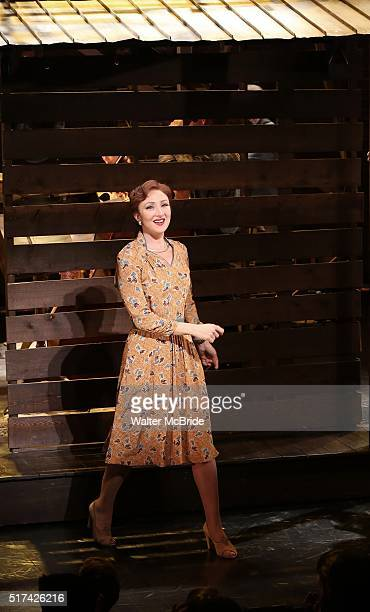 Carmen Cusack during 'Bright Star' Opening Night on Broadway Curtain Call at The Cort Theatre on March 24 2016 in New York City