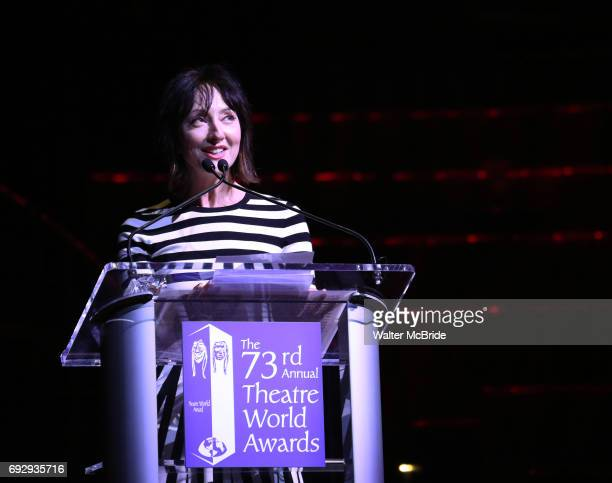 Carmen Cusack on stage at the 73rd Annual Theatre World Awards at The Imperial Theatre on June 5 2017 in New York City