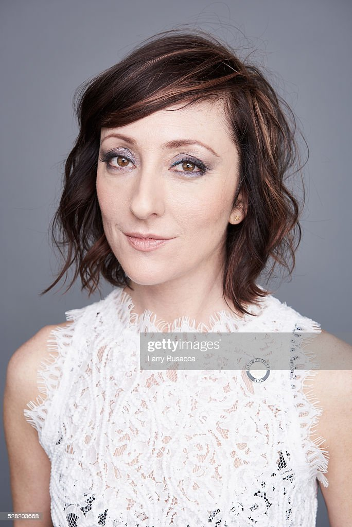 Carmen Cusack poses for a portrait at the 2016 Tony Awards Meet The Nominees Press Reception on May 4, 2016 in New York City.