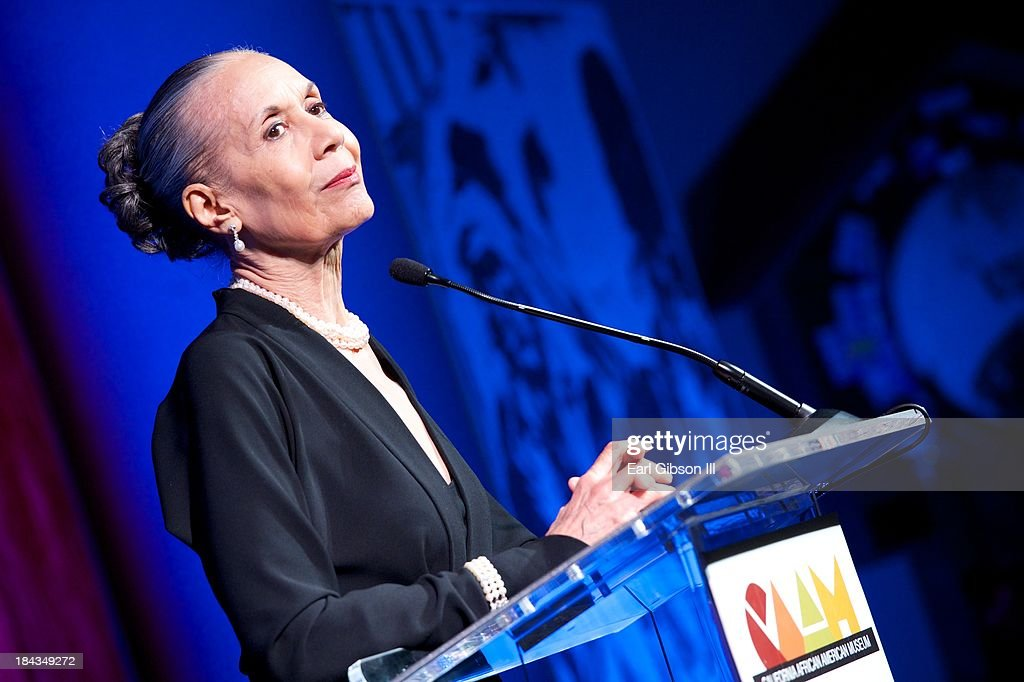 <a gi-track='captionPersonalityLinkClicked' href=/galleries/search?phrase=Carmen+de+Lavallade&family=editorial&specificpeople=984640 ng-click='$event.stopPropagation()'>Carmen de Lavallade</a> is honored at 'An Artful Evening At CAAM' Gala for her lifetime contributions to Acting/Dance and Choreography at the California African American Museum on October 12, 2013 in Los Angeles, California.