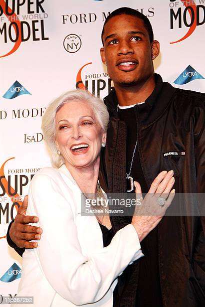Carmen Dell' Orefice and Trevor Ariza during Ford Models' Supermodel of the World Contest Arrivals at The Ford Tunnel in New York City New York...