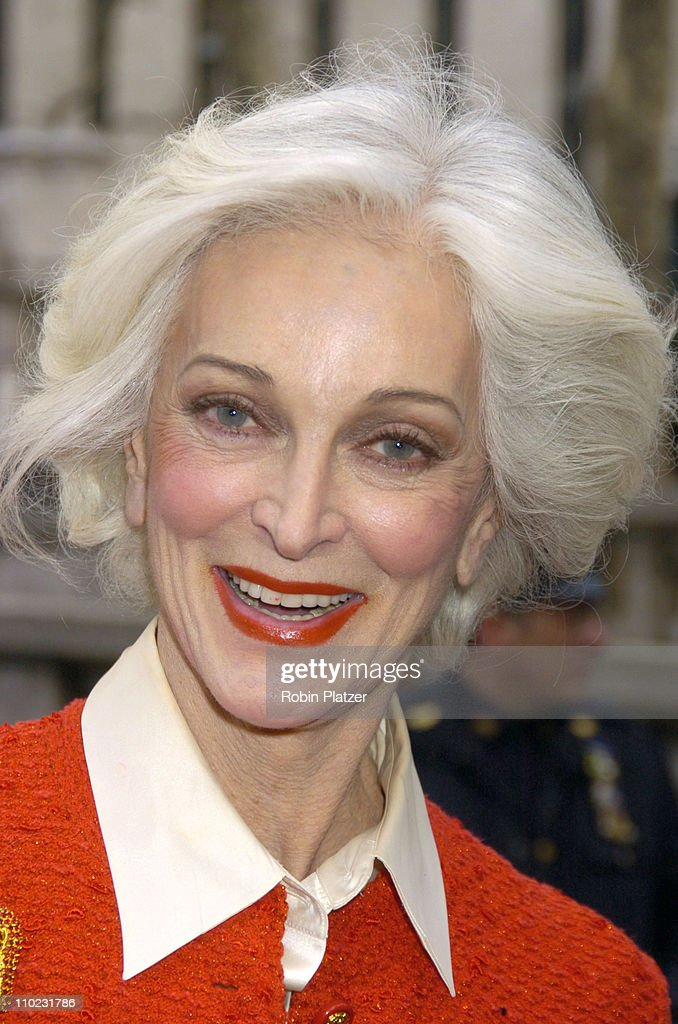 Carmen Dell'Orefice during Olympus Fashion Week Fall 2005 - The Heart Truth Red Dress Collection Fashion Show - Departures at Olympus Fashion Week at Bryant Park in New York, New York, United States.