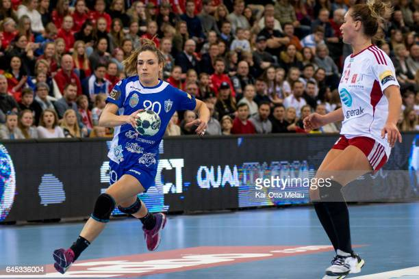 Carmen Dolores Berenguer Martin in the Women's EHF Champions league match between Larvik HK and CSM Bucuresti on February 25 2017 in Larvik Norway