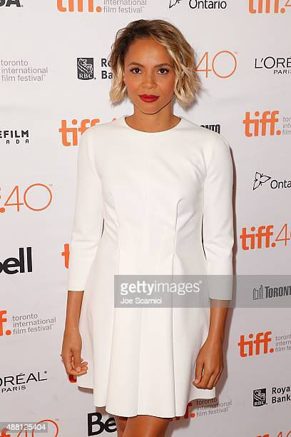 Carmen Ejogo attends 2015 Toronto International Film Festival 'Born To Be Blue' Premiere at Winter Garden Theatre on September 13 2015 in Toronto...