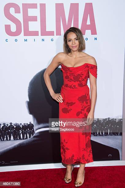 Carmen Ejogo attends the 'Selma' New York Premiere at the Ziegfeld Theater on December 14 2014 in New York City