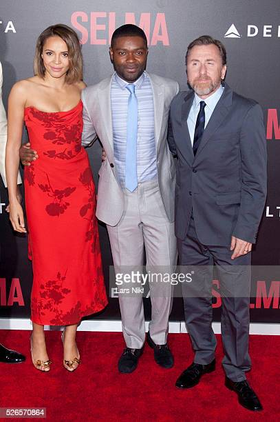 Carmen Ejogo David Oyelowo and Tim Roth attend the 'Selma' premiere at the Ziegfeld Theater in New York City �� LAN
