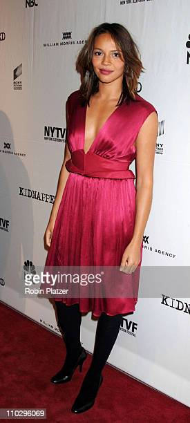 Carmen Ejogo during Opening Night Gala for the New York Television Festival and NBC Premiere of 'Kidnapped' September 12 2006 at The New World Stages...