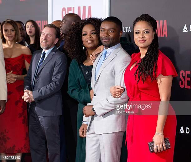 Carmen Ejogo Tim Roth Oprah Winfrey David Oyelowo and Ava DuVernay attend the 'Selma' New York Premiere at Ziegfeld Theater on December 14 2014 in...