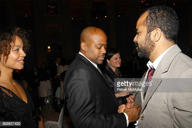 Carmen Ejogo Wright Damon Dash and Jeffrey Wright attend VANITY FAIR Tribeca Film Festival Party hosted by Graydon Carter and Robert DeNiro at The...