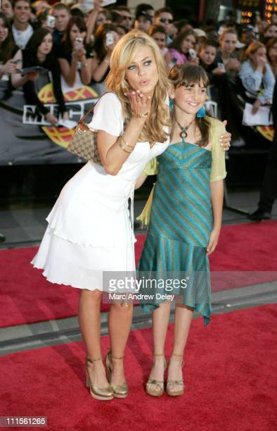 Carmen Electra and Alyson Stoner during 2005 MuchMusic Video Awards Red Carpet at CHUM CITY TV Building in Toronto Canada