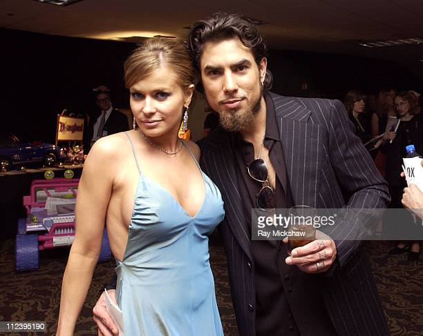 Carmen Electra and Dave Navarro during 11th Annual Race to Erase MS Silent Auction at Century Plaza Hotel in Century City California United States