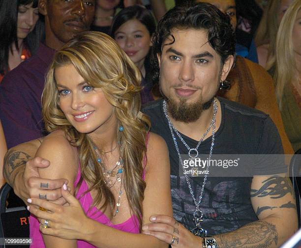 Carmen Electra and Dave Navarro during 2004 MTV Movie Awards Backstage and Audience at Sony Pictures Studios in Culver City California United States