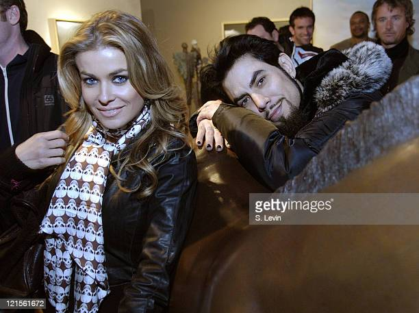 Carmen Electra and Dave Navarro during 2006 Park City Red Stripe Hosts Party for Tamra Davis' 'Conversations With Basquiat' at Coda Gallery in Park...