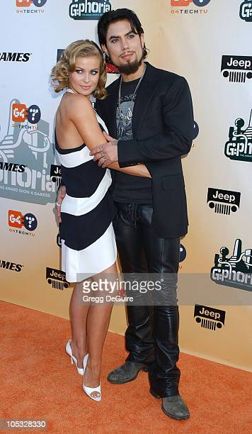 Carmen Electra and Dave Navarro during 'GPhoria The Award Show 4 Gamers' at Shrine Auditorium in Los Angeles California United States
