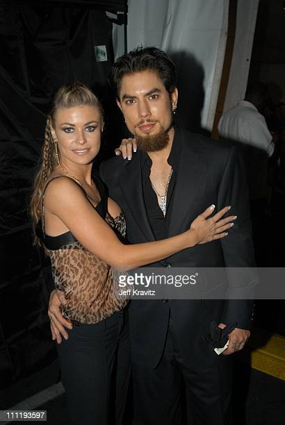 Carmen Electra and Dave Navarro during VH1 Big in 2002 Awards Backstage and Audience at Grand Olympic Auditorium in Los Angeles CA United States