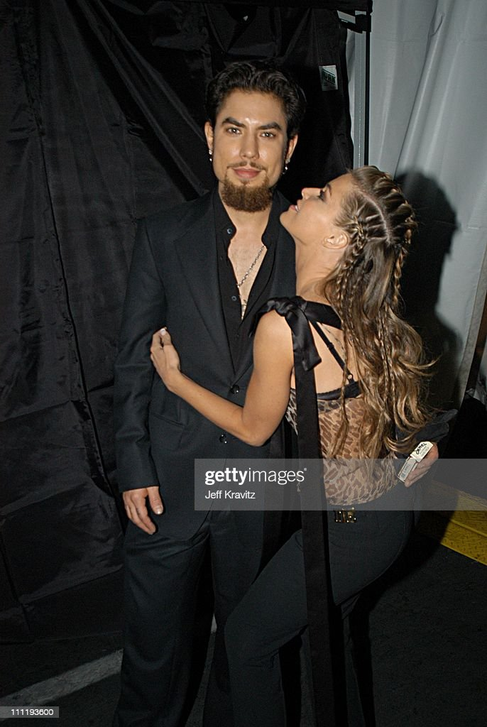 Carmen Electra and Dave Navarro during VH1 Big in 2002 Awards - Backstage and Audience at Grand Olympic Auditorium in Los Angeles, CA, United States.
