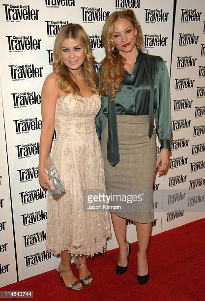 Carmen Electra and Drea de Matteo during Conde Nast Traveler 19th Annual Readers Choice Awards October 16 2006 at American Museum of Natural History...