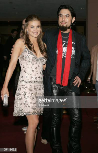 Carmen Electra and husband Dave Navarro during 2005 EMI Post GRAMMY Awards Party in Los Angeles CA United States