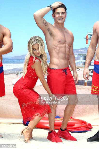 Carmen Electra and Madame Tussauds Hollywood Unveil A Wax Figure Of Zac Efron at Madame Tussauds on July 12 2017 in Hollywood California