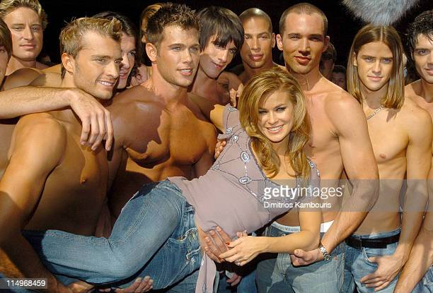 Carmen Electra and male models from Bravo's TV Series 'Manhunt'