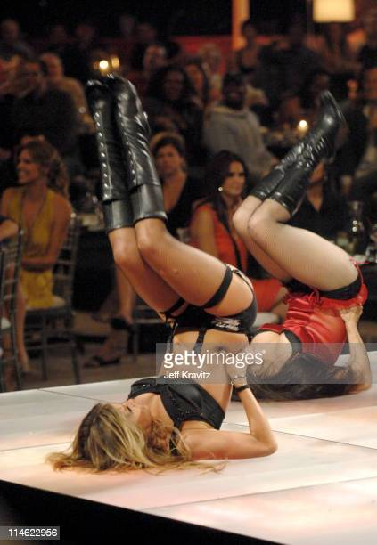 Carmen Electra and Staci Flood during First Annual Spike TV's Guys Choice Show at Radford Studios in Los Angeles California United States