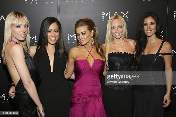 Carmen Electra and the Bombshell Babes during Carmen Electra Unveiled as the New Face of 'MAX Factor' Cosmetics Black Carpet Arrivals at Marquee in...