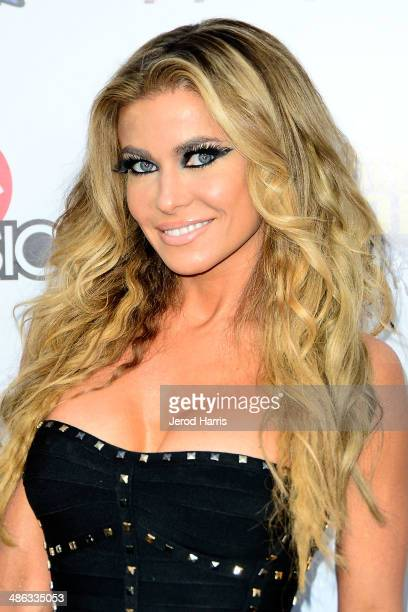 Carmen Electra arrives at the 2014 Revolver Golden Gods Awards at Club Nokia on April 23 2014 in Los Angeles California