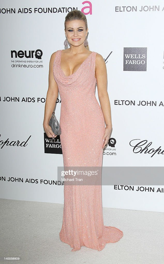 Carmen Electra arrives at the 20th Annual Elton John AIDS Foundation Academy Awards viewing party held across the street from the Pacific Design Center on February 26, 2012 in West Hollywood, California.