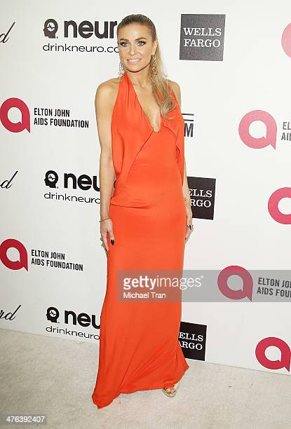 Carmen Electra arrives at the 22nd Annual Elton John AIDS Foundation's Oscar viewing party held on March 2 2014 in West Hollywood California