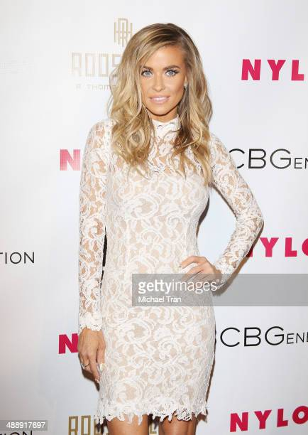 Carmen Electra arrives at the Nylon Magazine May Young Hollywood Issue Party held at Tropicana Bar at The Hollywood Rooselvelt Hotel on May 8 2014 in...