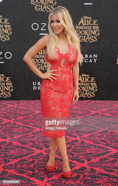 Carmen Electra arrives at the premiere of Disney's 'Alice Through The Looking Glass' at the El Capitan Theatre on May 23 2016 in Hollywood California