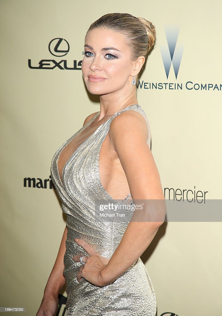<a gi-track='captionPersonalityLinkClicked' href=/galleries/search?phrase=Carmen+Electra&family=editorial&specificpeople=171242 ng-click='$event.stopPropagation()'>Carmen Electra</a> arrives at The Weinstein Company's 2013 Golden Globes after party held at The Beverly Hilton Hotel on January 13, 2013 in Beverly Hills, California.