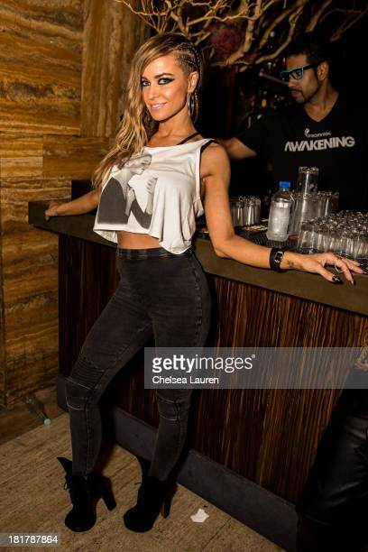 Carmen Electra attends Krewella's 'Get Wet' album release foam party at Exchange LA on September 24 2013 in Los Angeles California