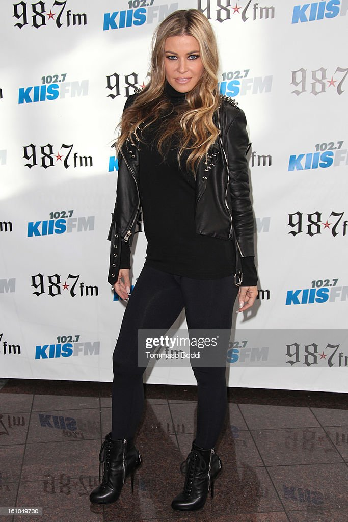 <a gi-track='captionPersonalityLinkClicked' href=/galleries/search?phrase=Carmen+Electra&family=editorial&specificpeople=171242 ng-click='$event.stopPropagation()'>Carmen Electra</a> attends the 102.7 KIIS FM and Star 98.7 host 5th annual celebrity and artist lounge celebrating the 55th annual GRAMMYS at ESPN Zone At L.A. Live on February 8, 2013 in Los Angeles, California.