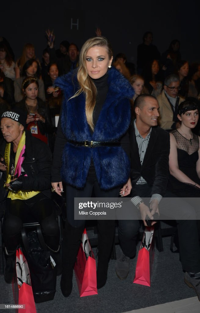<a gi-track='captionPersonalityLinkClicked' href=/galleries/search?phrase=Carmen+Electra&family=editorial&specificpeople=171242 ng-click='$event.stopPropagation()'>Carmen Electra</a> attends the Betsey Johnson Fall 2013 fashion show during Mercedes-Benz Fashion Week at The Studio at Lincoln Center on February 11, 2013 in New York City.